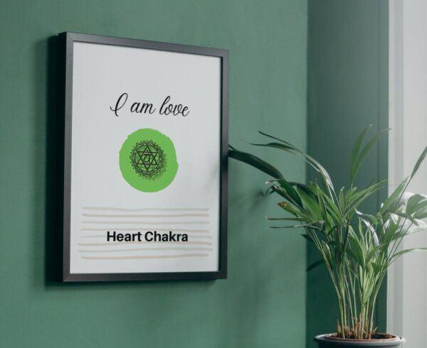 Green heart chakra mockup