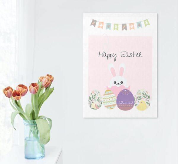 Happy Easter pink mockups