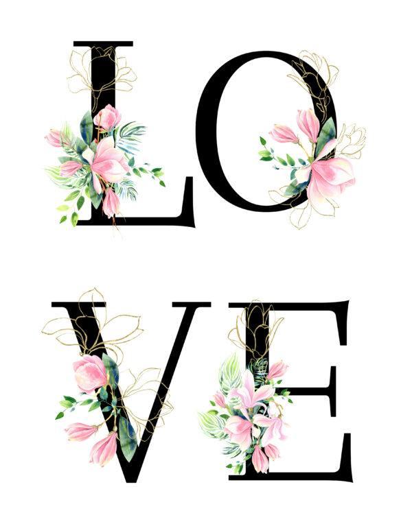 _list-Love-floral-11x14