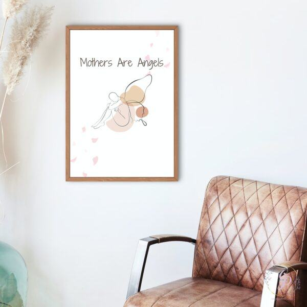 mothers are angels mockup
