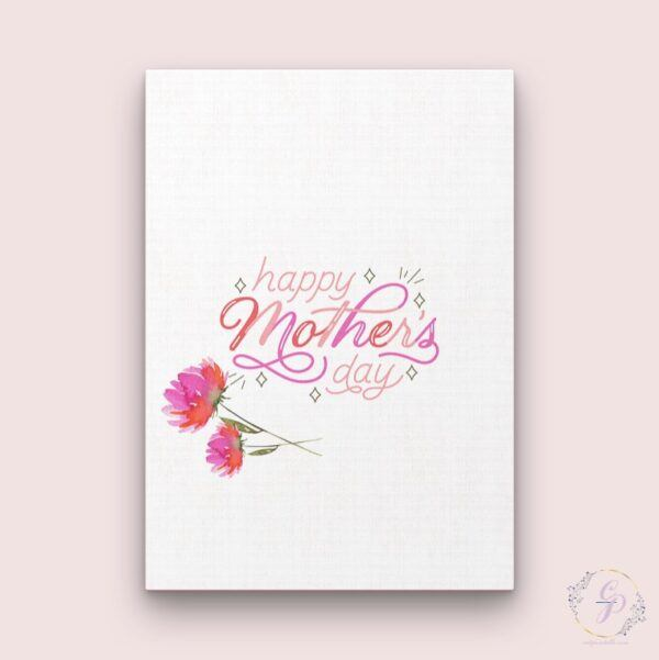 watercolour floral mother's day