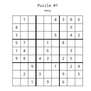 15 sudoku puzzles