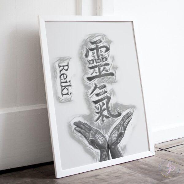 Abstract Reiki Kanji Black & White