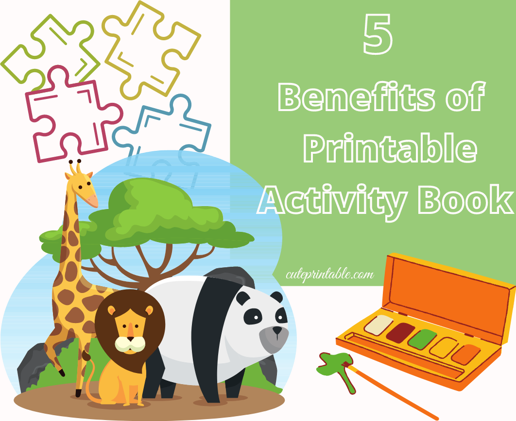 feature image of 5 benefits of printable activity books