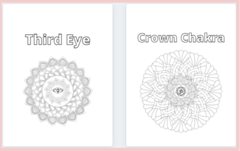 Chakra Coloring Book With 7 Mandalas