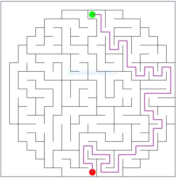 Circle Maze Solved