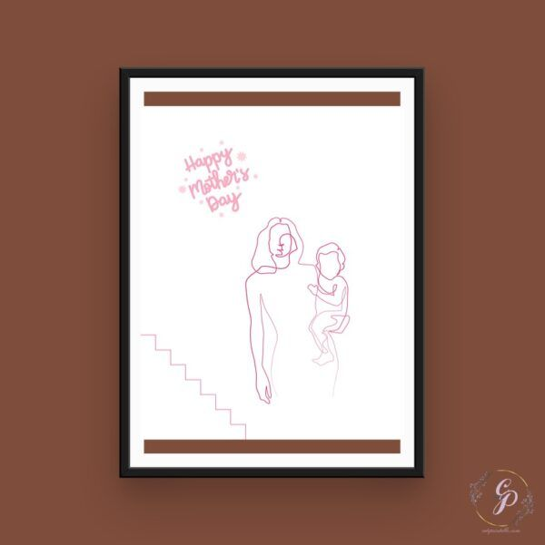 Happy Mother's Day- Line Art