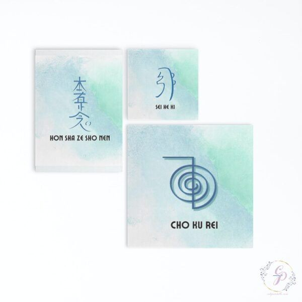 Set of 4 editable Usui Reiki Symbols