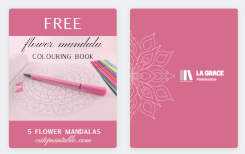 Free Flower Mandala Coloring Book