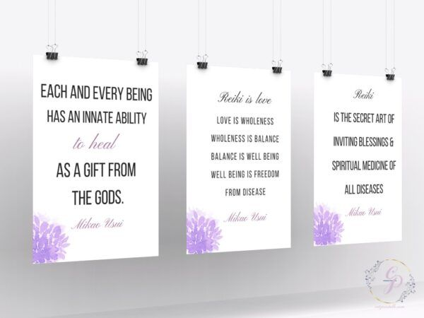 set of 3 Mikao Usui Quotes