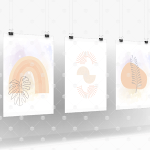 Set of 3 - Boho Starry Leaves-