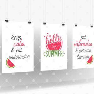 Set of 3 Hello Summer Wall Art