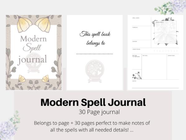 Modern spell journal