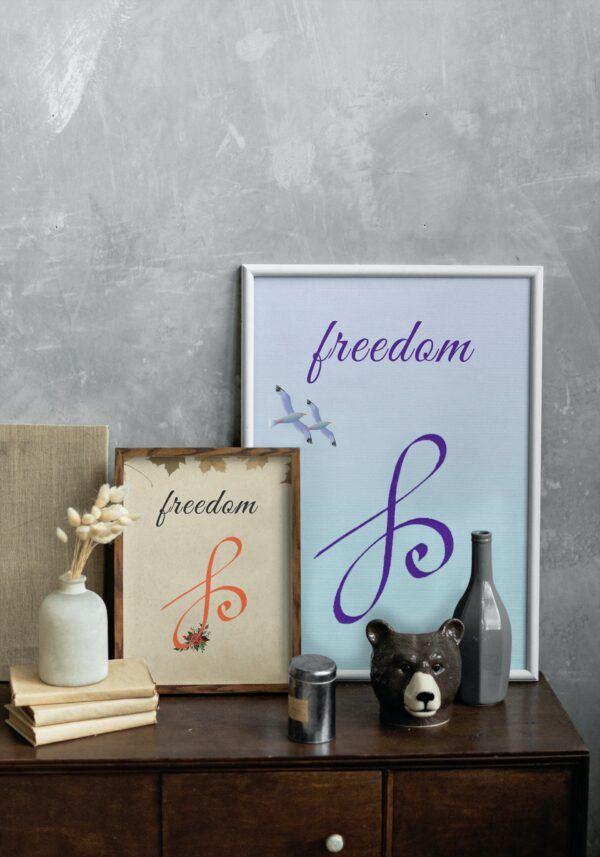 Freedom-zibu symbol in 2 versions