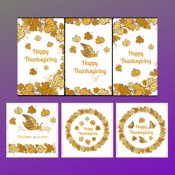 Thanksgiving Greeting Cards-set of six