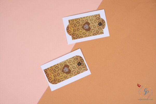Set of 7 Mustard Thanksgiving Gift Tags