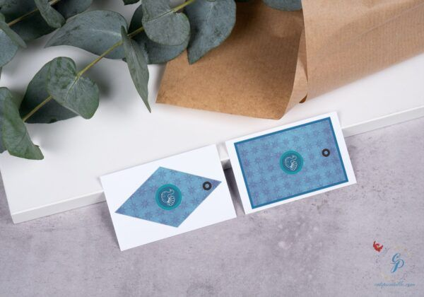 set of 7 Blue Thanksgiving Gift Tags