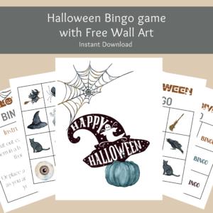 Halloween Bingo with free wall art