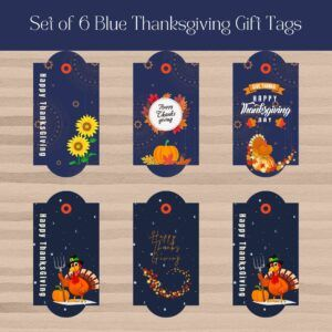 set of 6 Celestial thanksgiving gift tags