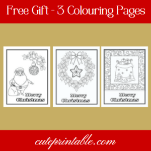 Free gift colouring pages
