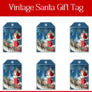 Vintage Santa Gift Tag+Free Gift