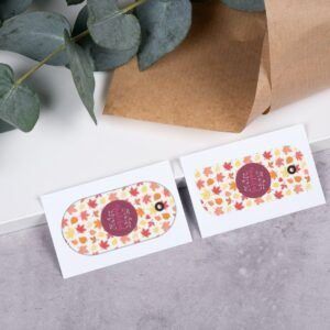 Set of 7 Colorful Leaves Thanksgiving Gift Tags