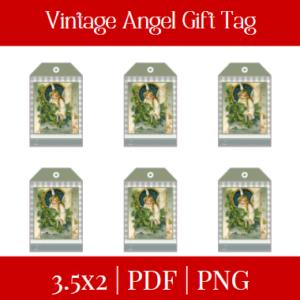 Vintage Angel Gift tag