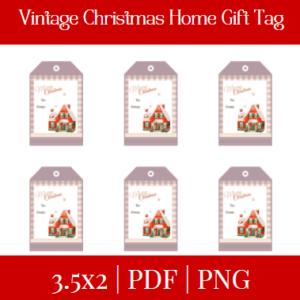 Vintage Christmas Home Gift Tag Listing